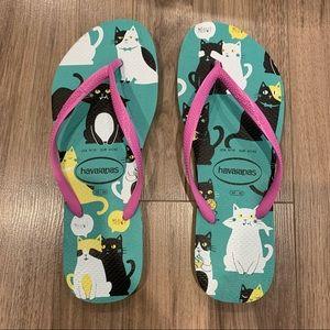 Havaianas Slim Pets Cat Flip Flops Sandals